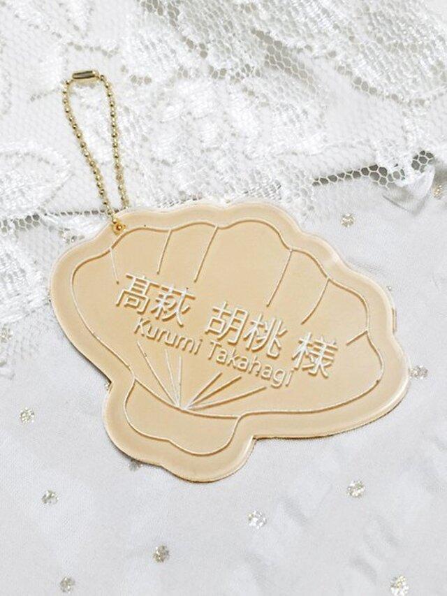 Wedding Place Cards 【SHELL】★ベージュ★(ご注文は5個~)の画像1枚目