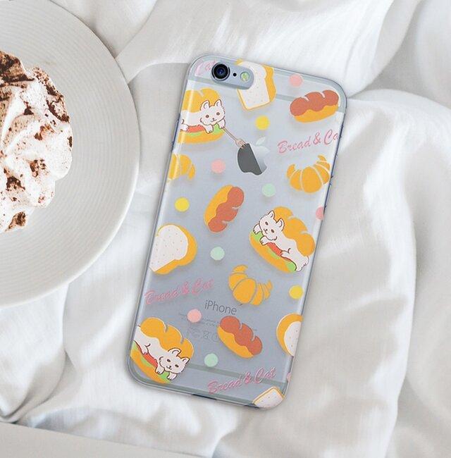 猫サンド【iPhonePlusハードクリアケース】#iPhoneXS Max対応の画像1枚目