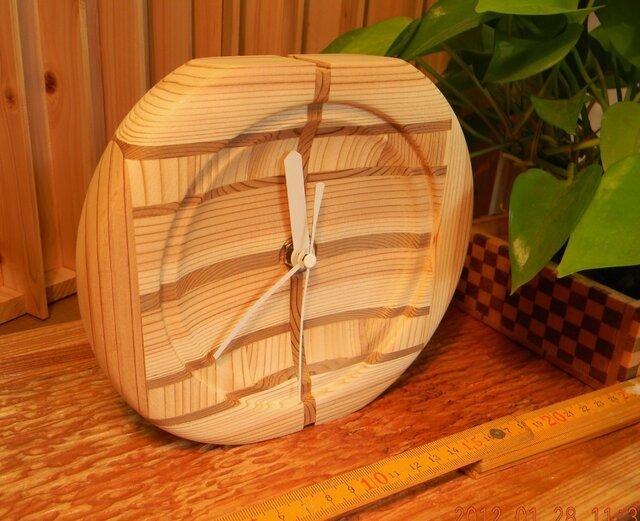 木の時計 Yの1の画像1枚目