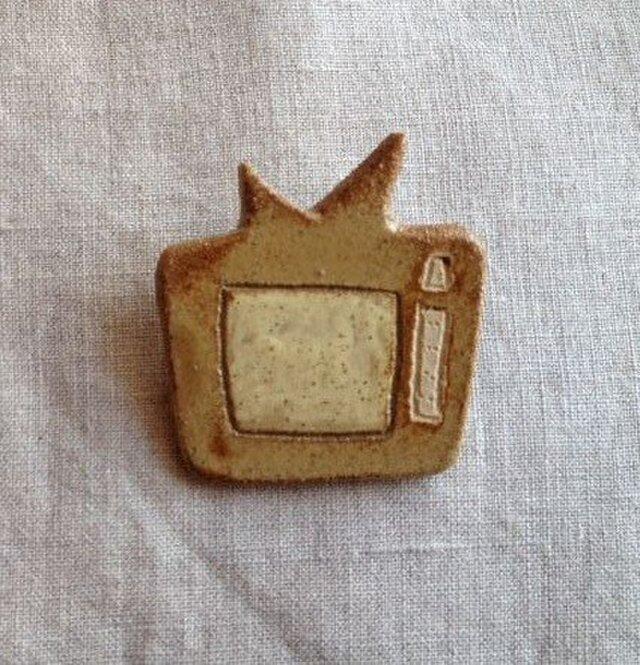 なつかしの昭和家電ブローチ 〈アナログテレビ〉の画像1枚目