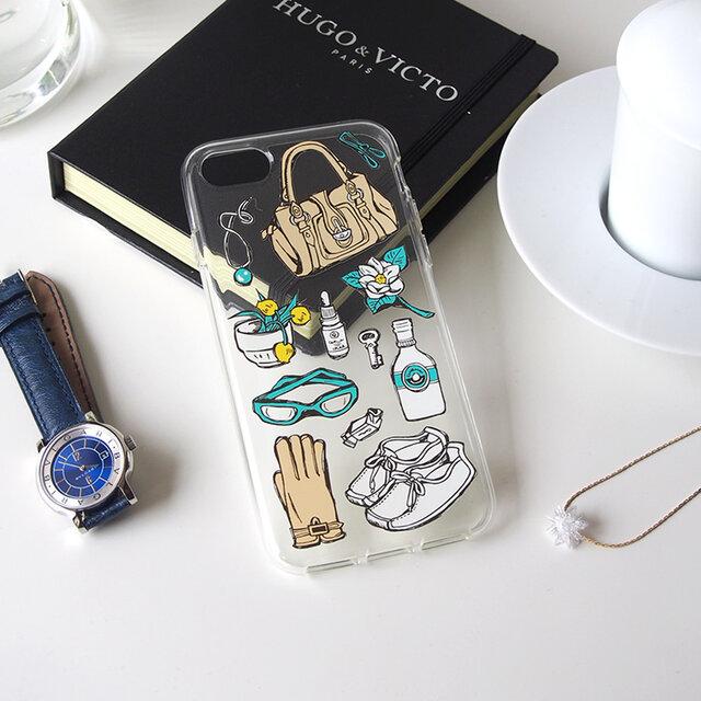 iPhonePlusハードクリアケース【旅じたく】の画像1枚目