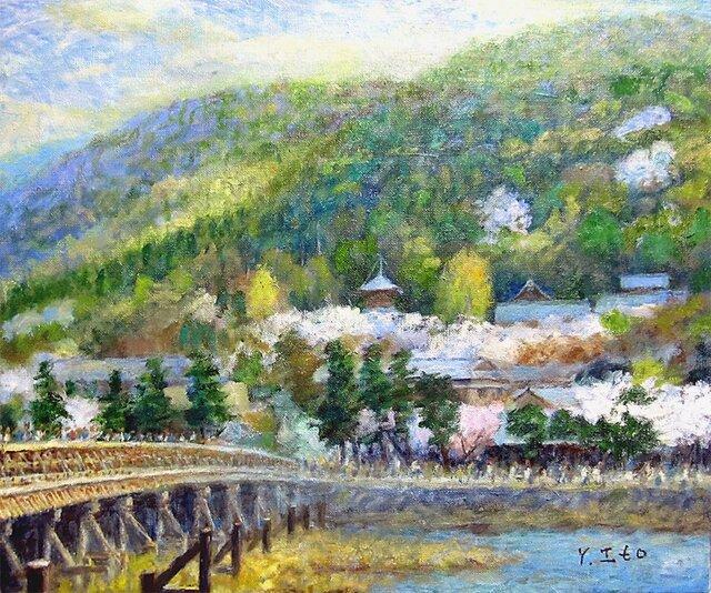 春の嵐山の画像1枚目