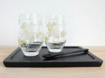 【ウエディング】【親ギフト】【結婚祝いギフト】アイビーフリーペアグラスの画像1枚目