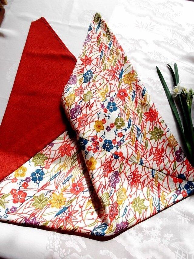あずま袋*紅型×赤の画像1枚目