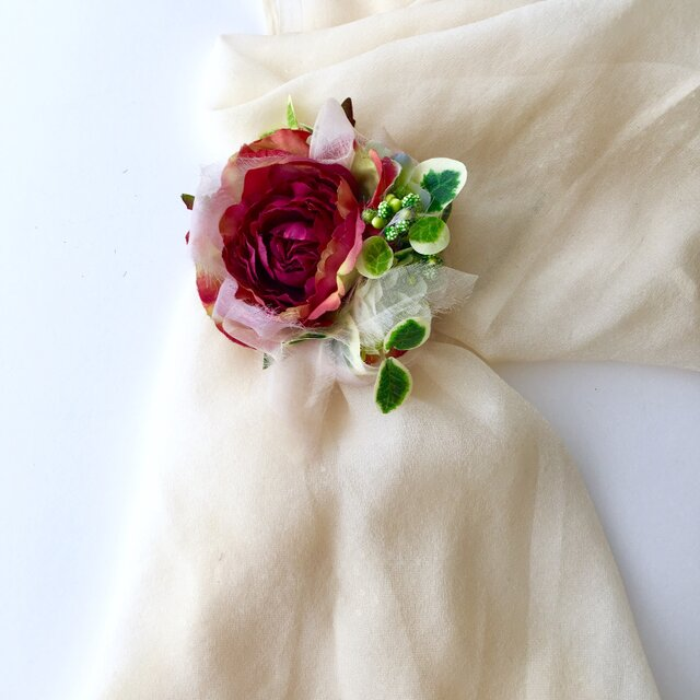 コサージュ&ヘアーアクセサリー 薔薇 再販の画像1枚目