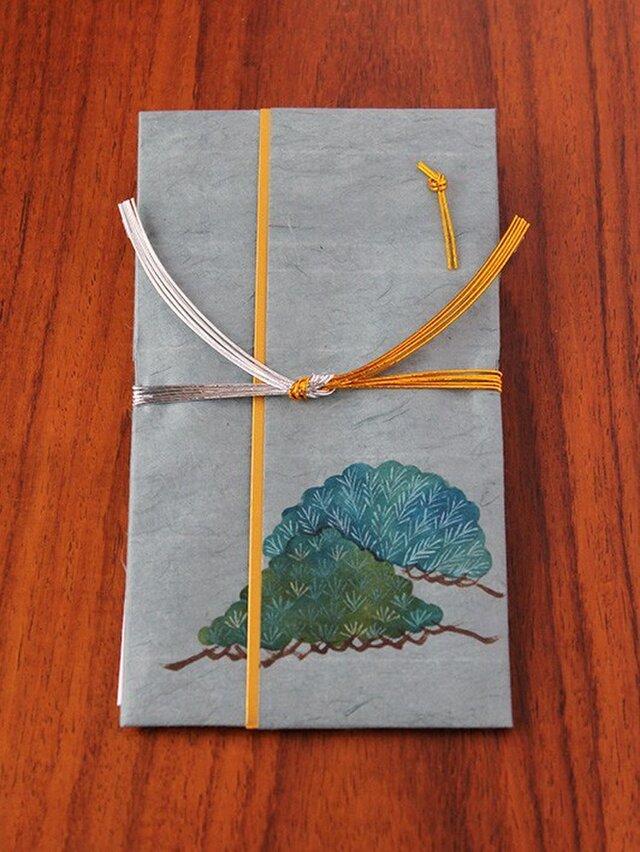 型染め御祝儀袋(藍 松)2の画像1枚目