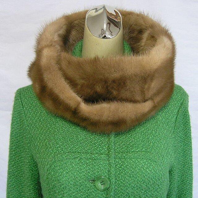 ¶ new antique fur ¶ パステルミンクnejiriスヌード「lexa」の画像1枚目