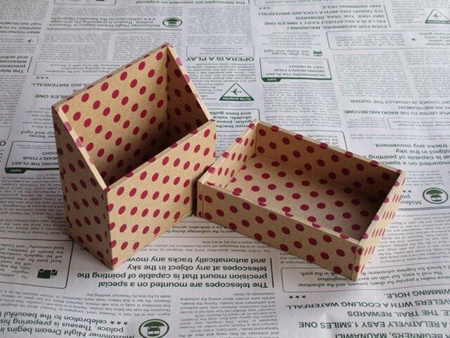 水玉の小箱セット(パープル)の画像1枚目