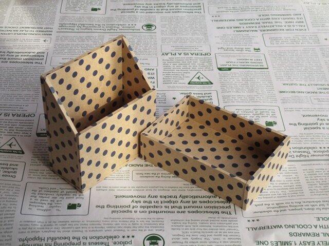 水玉の小箱セット(ディープブルー)の画像1枚目