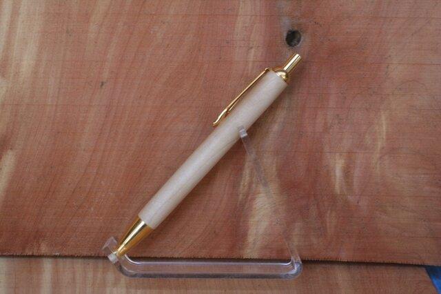 栃 ノック式ボールペン ゼブラの画像1枚目