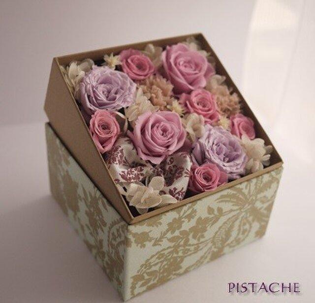 BOXフラワー(pink)の画像1枚目
