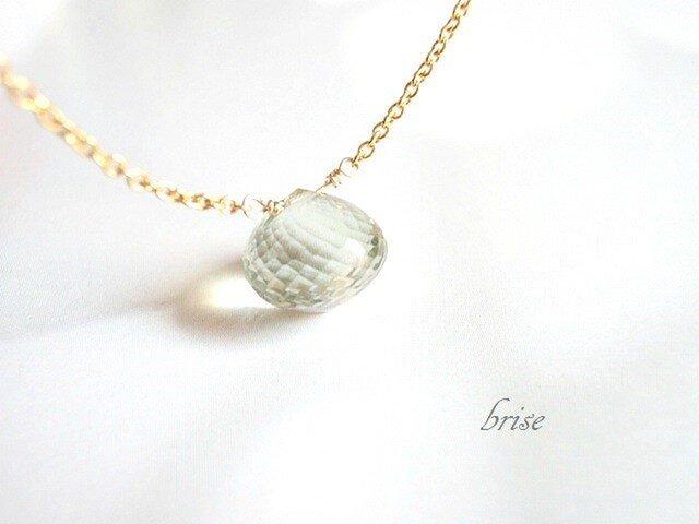 【sale】グリーンアメジスト ネックレスの画像1枚目