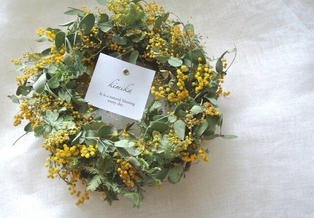 mimosa wreath.yの画像1枚目