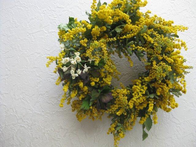 ミモザの春の庭のwreathの画像1枚目