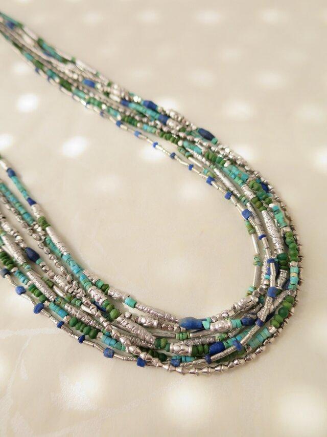 SV Beads・Lapis lazuli・Turquoise Necklaceの画像1枚目