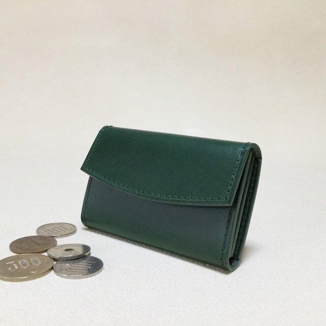 小さくたって大容量!革のコインケース#グリーンの画像1枚目
