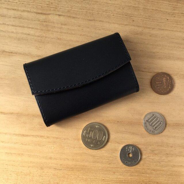 小さくたって大容量!革のコインケース#ネイビーの画像1枚目