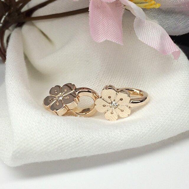 桜のイヤーカフ&イヤリングの画像1枚目
