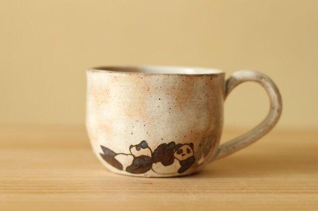 粉引きパンダカップ。の画像1枚目