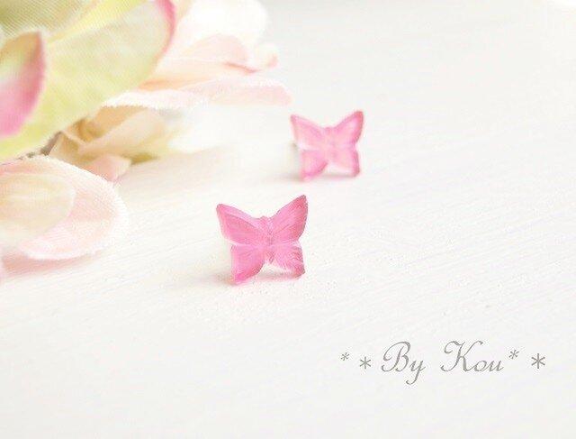 *♪・*春気分な蝶々のピアス*♪**MRの画像1枚目