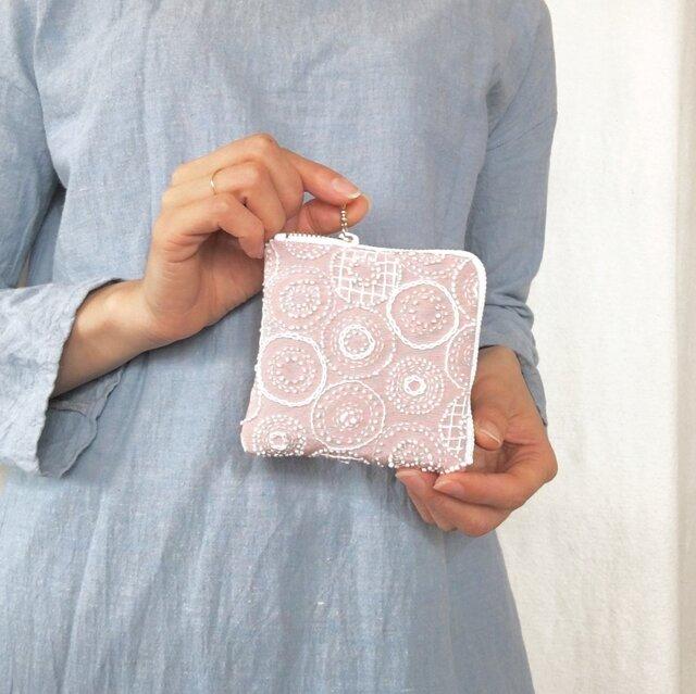 ミニ財布/ポーチ[花蕾]花色の画像1枚目