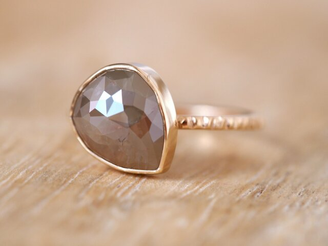 Cappuccino Drop Diamond Ringの画像1枚目