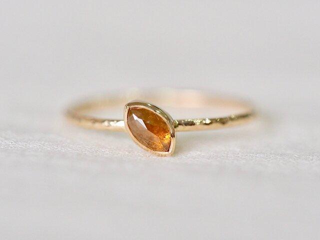 Orange Dahlia Petal Diamond Ringの画像1枚目