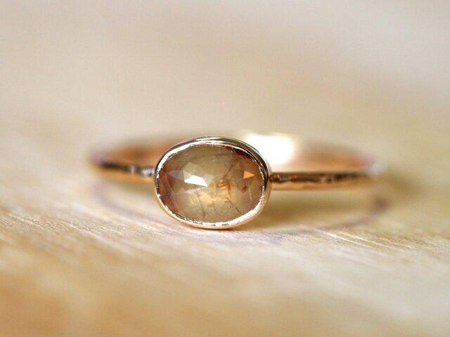Rutilated Beige Diamond Ringの画像1枚目