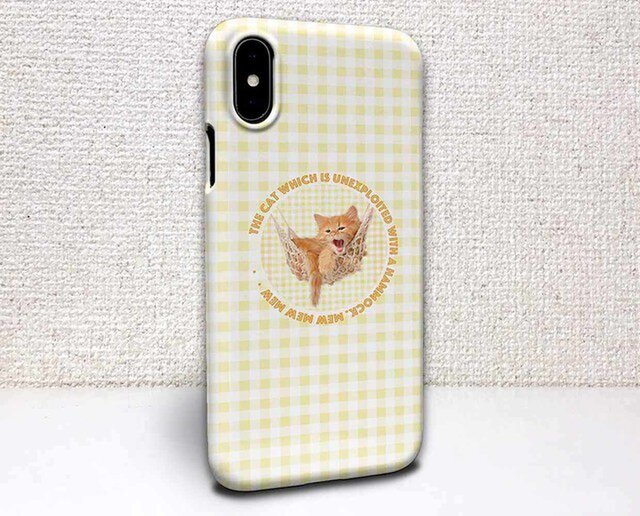 iphone ハードケース iPhoneX iphone8 iphone8 plus iphone7 猫 ハンモックで眠る子猫の画像1枚目