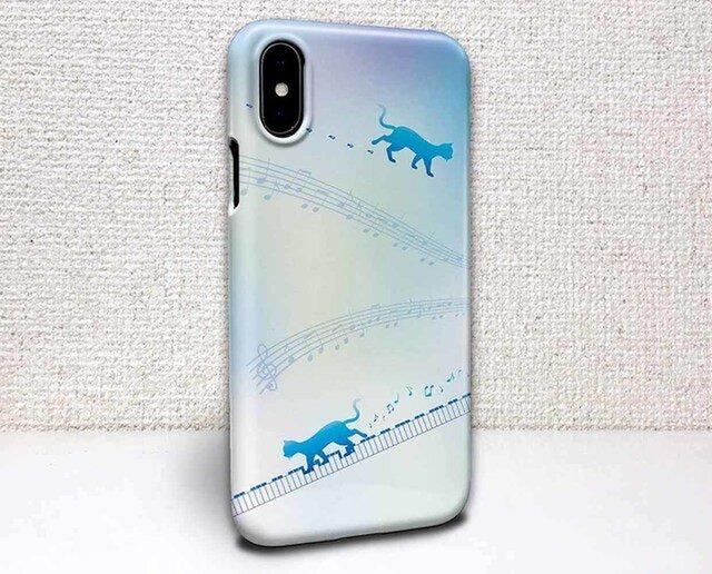 iphone ハードケース iPhoneX iphone8 iphone8 plus iphone7 猫 ピアノと猫の画像1枚目