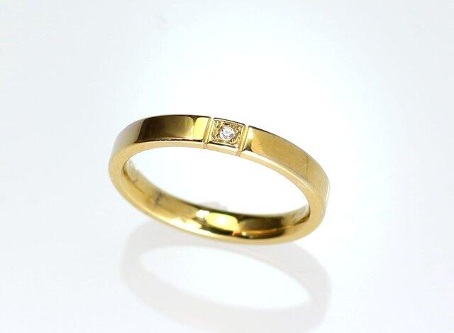 K18YG ダイヤモンドリング type3の画像1枚目