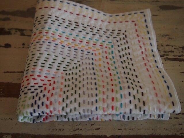 mottainai 刺し子布巾の画像1枚目