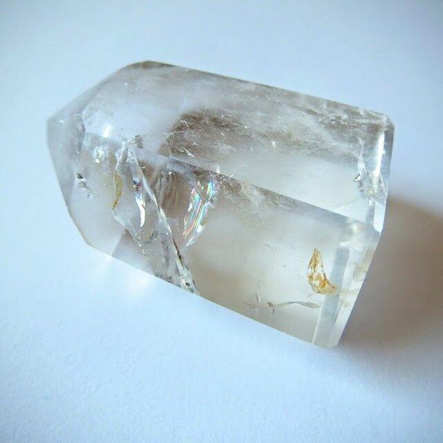 クリスタル・オベリスク(ポイント水晶、クリア・クォーツ)  104g 鉱物・原石の画像1枚目
