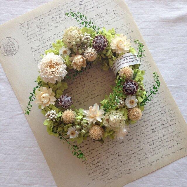 tenori wreath 【手のりリース ピスタチオグリーン】の画像1枚目