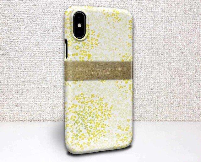 iphone ハードケース iPhoneX iphone8 花柄 菜の花 雲の向こうは、いつも青空 イエローの画像1枚目
