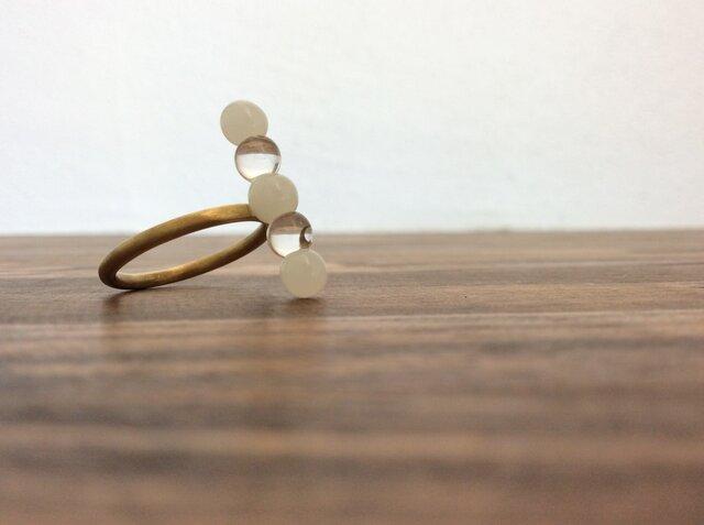 ⚪︎⚪︎⚪︎ring 『glass+brass jewelry』【ガラスリング】の画像1枚目