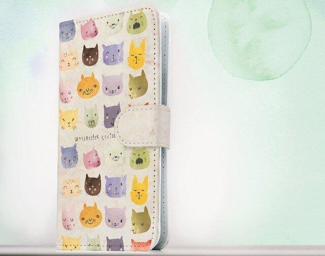 全機種対応 手帳型 スマホケース iPhoneXs iPhone9 iPhoneXs MaxiPhoneX 猫 暖かい猫の顔の画像1枚目