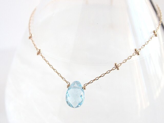 K10 Dew Drop Necklace BLの画像1枚目