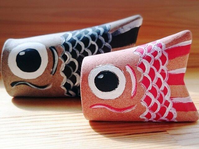 泳げ!鯉のぼり(二体セット)の画像1枚目