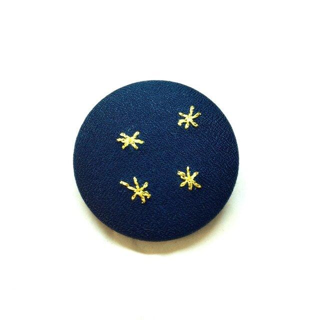 刺繍ボタンブローチ 「黄色小花」の画像1枚目