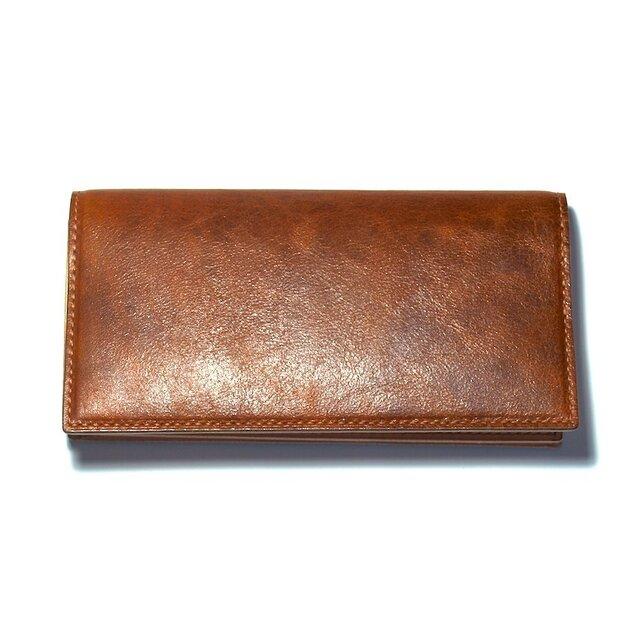 牛革 Brown 長財布の画像1枚目