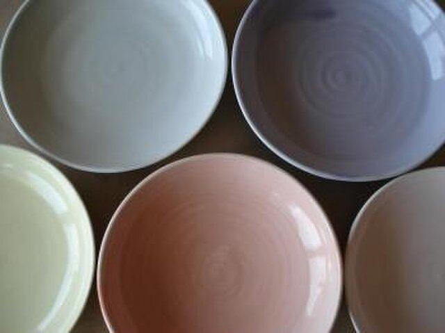 パステル釉の皿の画像1枚目