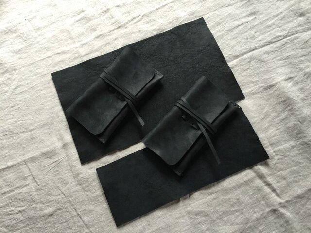 【K.M様オーダー品です】『環桜』墨黒 pouch・他の画像1枚目