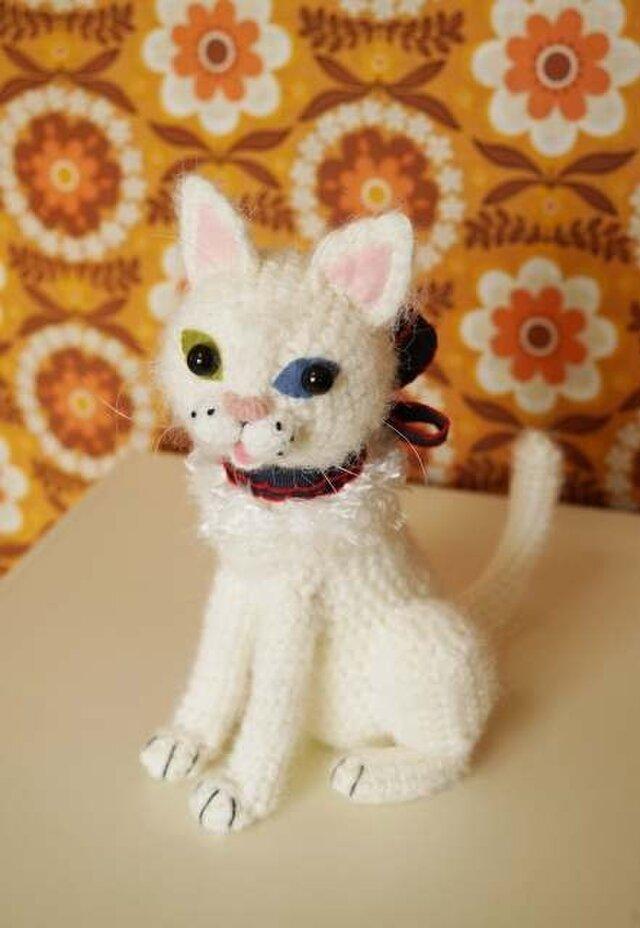 特大猫あみぐるみ(白)の画像1枚目