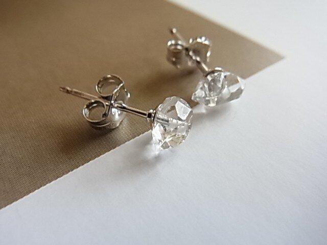 Silver925 NY herkimer diamond piercedの画像1枚目