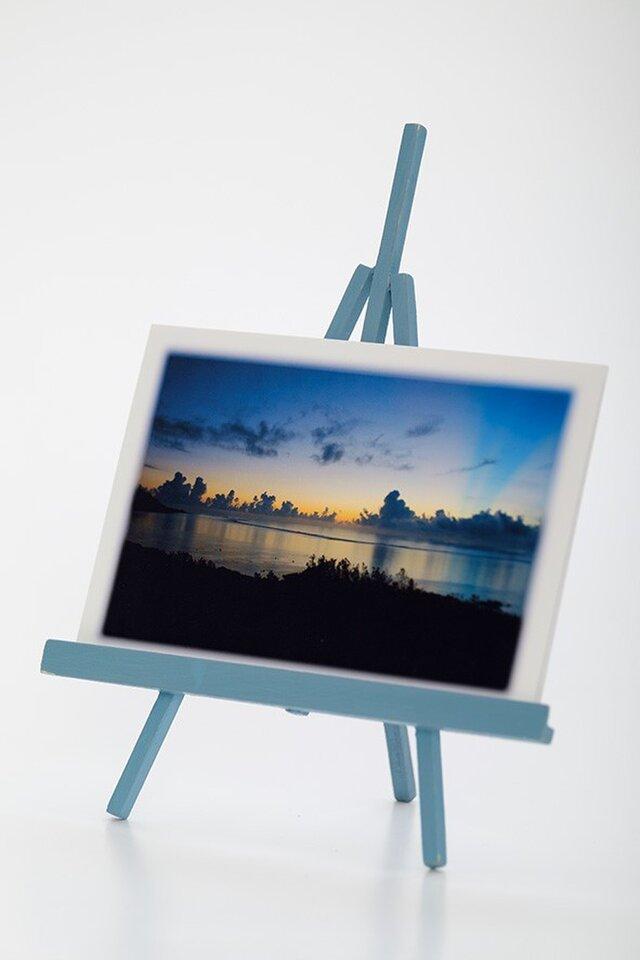 手作りイーゼルとPhoto Post Card(風景)5枚セットの画像1枚目