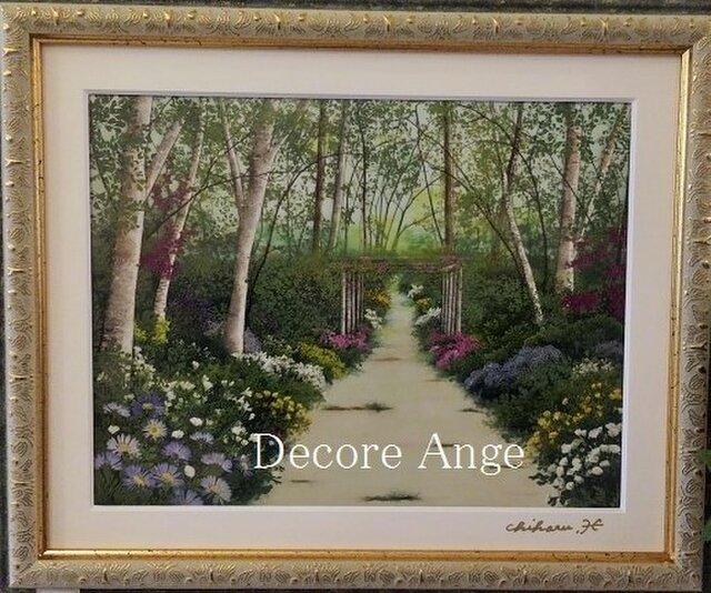 癒しの押し花風景画「やすらぎの風景」の画像1枚目