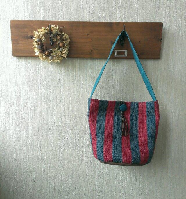 裂き織りのバッグ ワンショルダーの画像1枚目