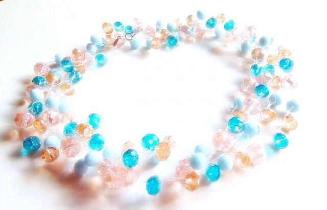 桜と青空のネックレスの画像1枚目
