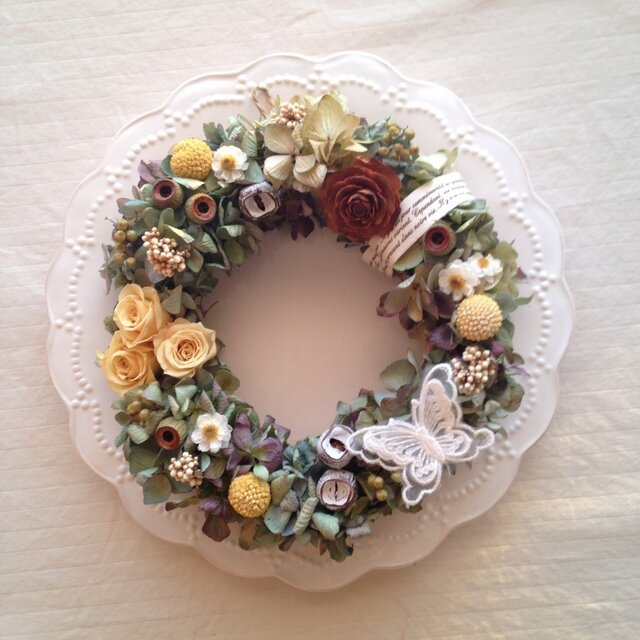 lace butterfly wreath(レースバタフライ)の画像1枚目